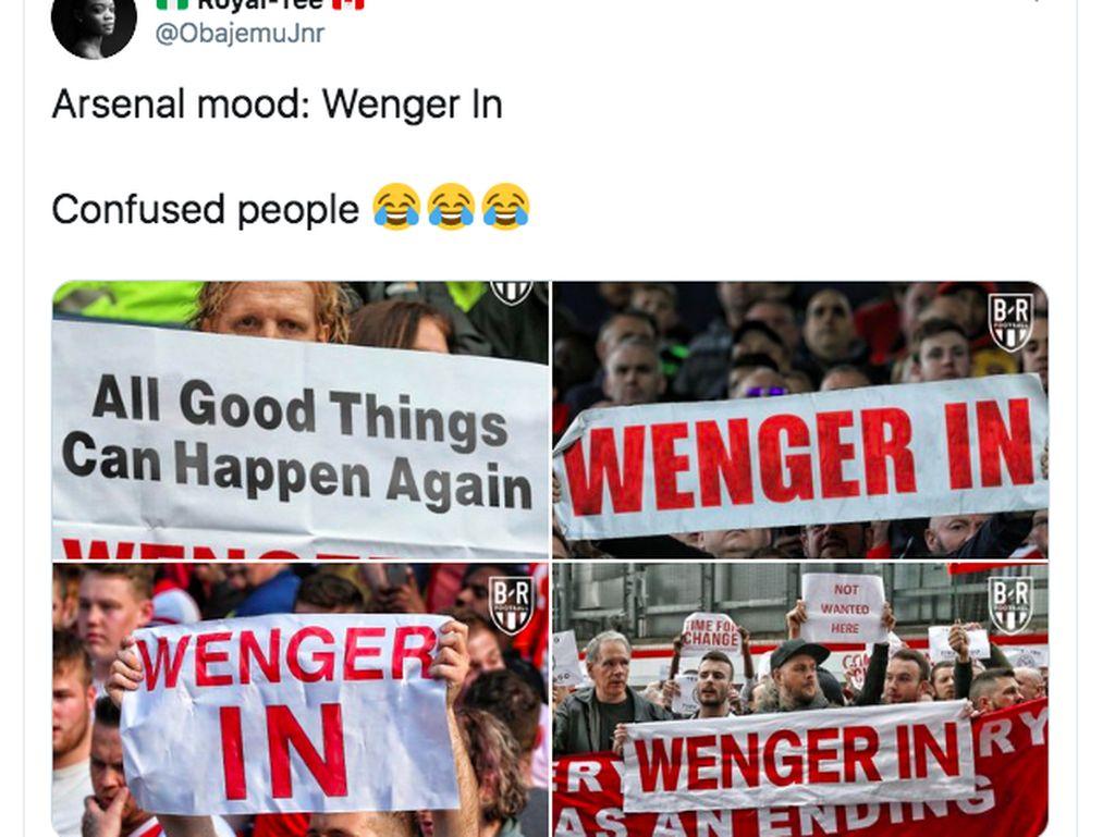 Ada juga yang merindukan Arsene Wenger. Foto: Twitter