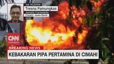VIDEO: Pipa Pertamina di Cimahi Terbakar