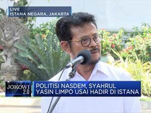 Menghadap Jokowi, Syahrul Yasin Limpo Jadi Menteri Pertanian?