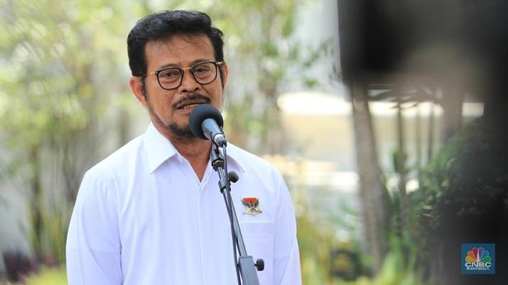 Mentan Syahrul Yasin Limpo mendatangi kantor BPS