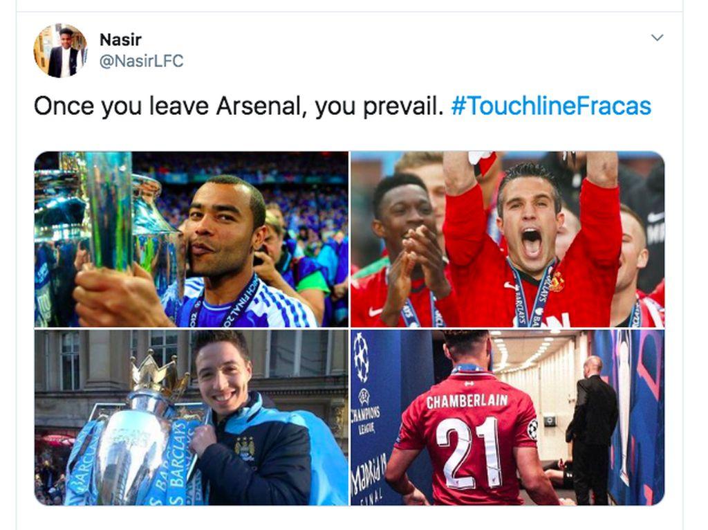 Beberapa pemain yang malah bersinar usai meninggalkan Arsenal. Ada yang mau mengikuti? Foto: Twitter