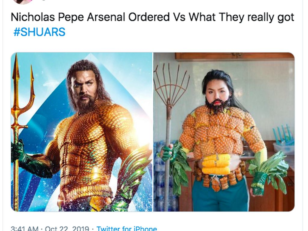 Pepe tak sesuai ekspektasi penampilannya. Foto: Twitter