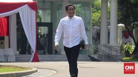 Berbaju Putih, Kakak Cak Imin Semringah Datangi Istana