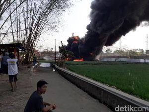 Pipa Pertamina Terbakar