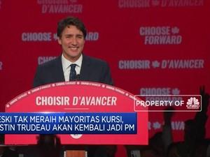 Justin Trudeau Kembali Terpilih Jadi PM Kanada