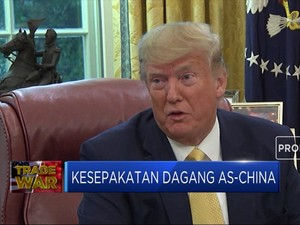 November, Trump Siap Teken Perjanjian Dengan China