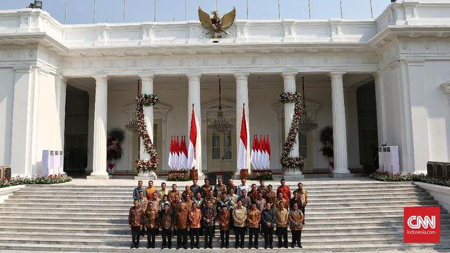 Jokowi Resmi Lantik Menteri Kabinet Indonesia Maju