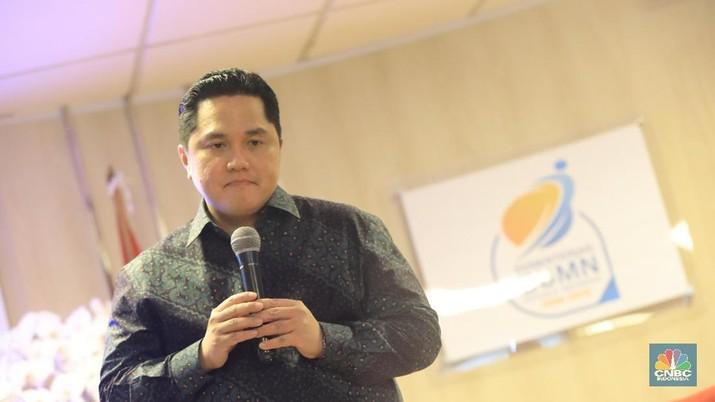 Menteri BUMN Erick Thohir (CNBC Indonesia/Andrean Kristianto)