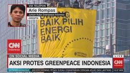 VIDEO: Aksi Protes Greenpeace Indonesia