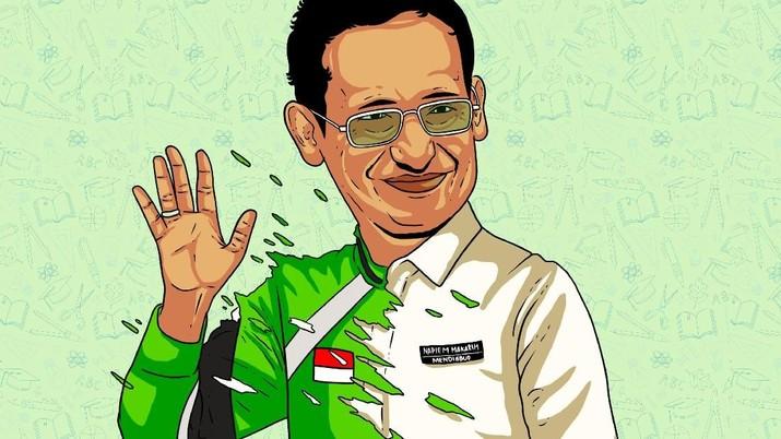 Mendikbud Nadiem Makarim menyebut dirinya adalah menteri termuda pada upacara hari sumpah pemuda yang berlangsung di kantor Kemendikbud senin (28/10/2019).