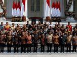 Gaya Jokowi Umumkan 38 Menteri Kabinet Indonesia Maju