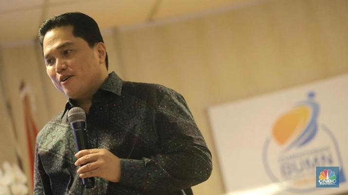 Utang BUMN yang menggunung ditanggapi oleh Erick Thohir.