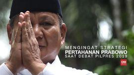 VIDEO: Mengingat Strategi Pertahanan Prabowo di Debat Pilpres