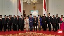 Daftar Nama Menteri yang Dipertahankan Jokowi