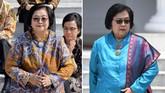 Sama seperti Sri Mulyani dan Retno Marsudi, Siti Nurbaya kembali menjadi 'srikandi' di jajaran kabinet Jokowi dan melanjutkan tugas sebagai Menteri Lingkungan Hidup dan Kehutanan. (CNN Indonesia/Adhi Wicaksono/ANTARA FOTO/Wahyu Putro A)
