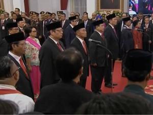 Seperti Ini Suasana Pelantikan Menteri Baru Jokowi-Ma'ruf