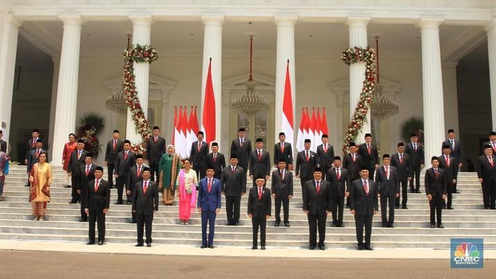 Kabinet Indonesia Maju Menteri Jokowi (CNBC Indonesia/Tri Susilo)