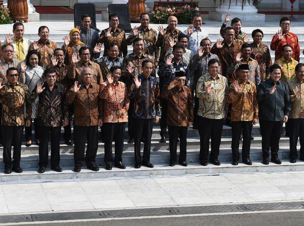 Wajah Para Menteri Kabinet Indonesia Maju Jokowi-Maruf