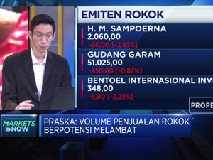 Cukai Naik 21,55%, Penjualan Rokok Berpotensi Melambat