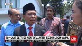 VIDEO: Tongkat Estafet Menpora Jatuh ke Zainuddin Amali