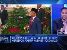 Ada Politisi & Profesional, Pasar Respon Baik Kabinet Jokowi