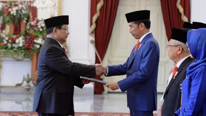 Menhan Prabowo Subianto (Kris - Biro Pers Sekretariat Presiden)