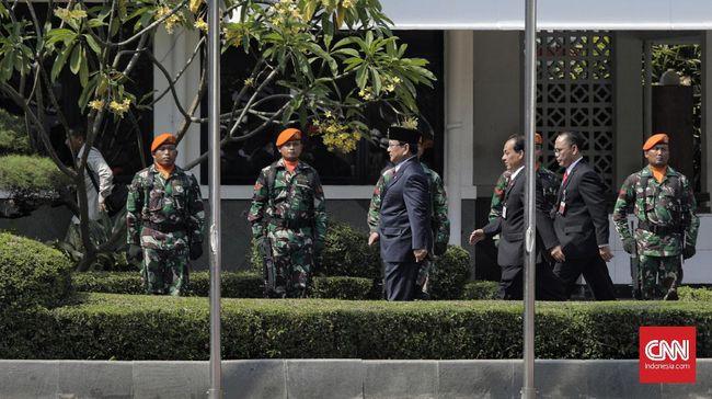 Sambangi Mabes TNI, Prabowo Ingin Tingkatkan Kekuatan Tempur