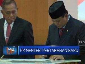 Begini Prosesi Penyambutan Prabowo di Kementerian Pertahanan