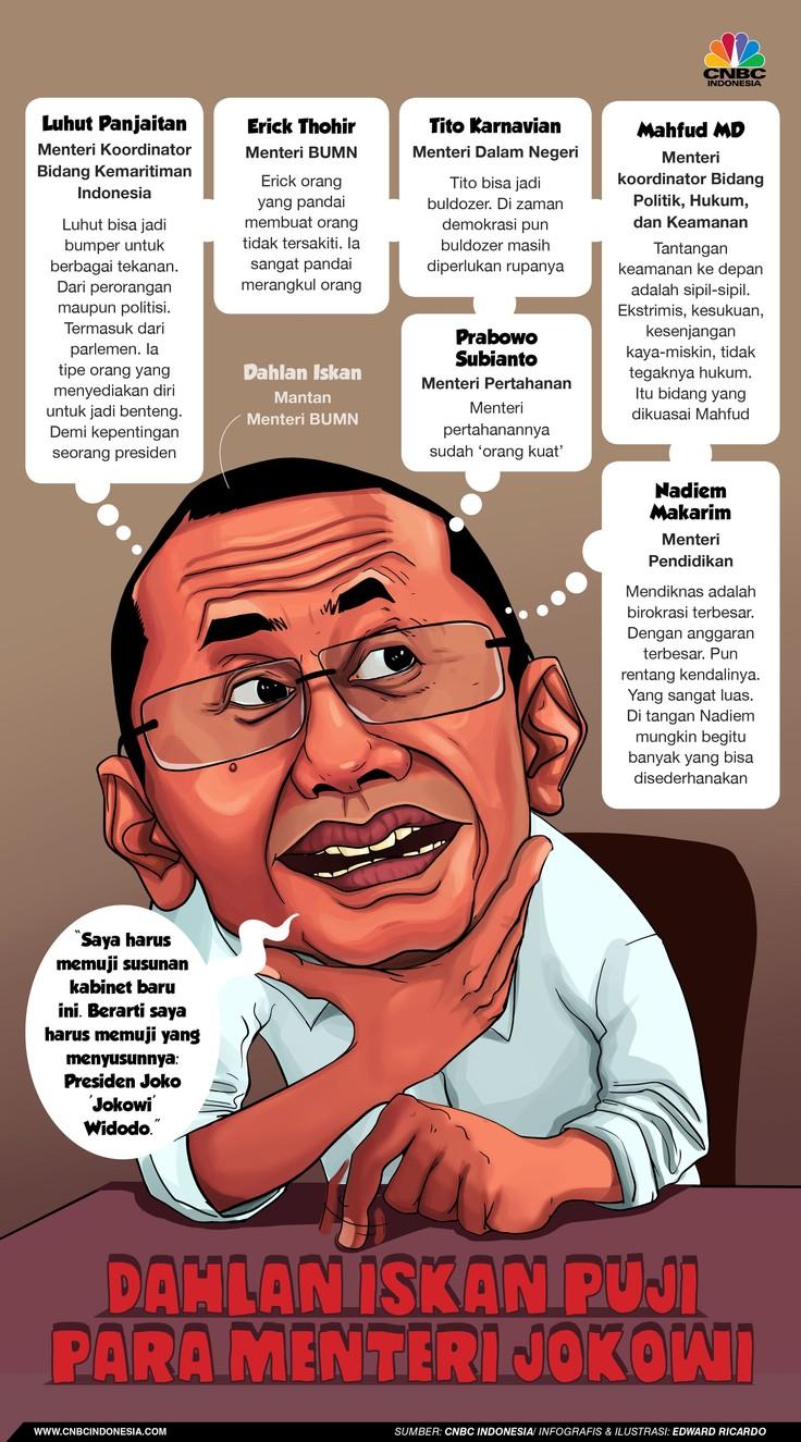 Dahlan bicara sosok-sosok para menteri baru Jokowi.