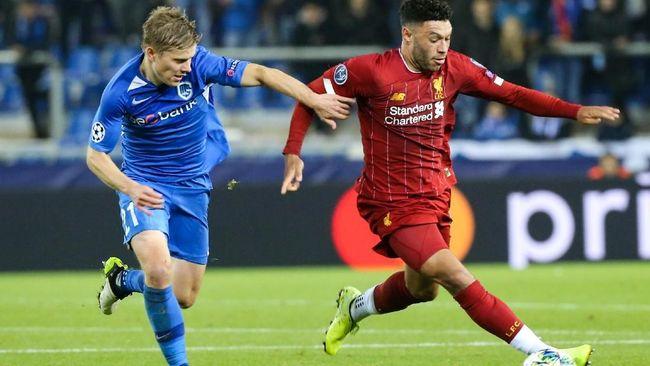 Genk vs Liverpool: Gol Cantik Chamberlain Banjir Pujian