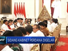 Begini Suasana Sidang Perdana Kabinet Jokowi-Ma'ruf