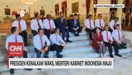 VIDEO: Presiden Kenalkan Wamen Kabinet Indonesia Maju