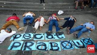 Aktivis 98 Tidur di Depan Istana, Protes Prabowo Jadi Menhan