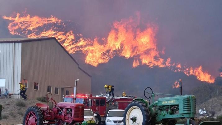 Penampakan Kebakaran Hutan di AS, 2000 Orang Dievakuasi