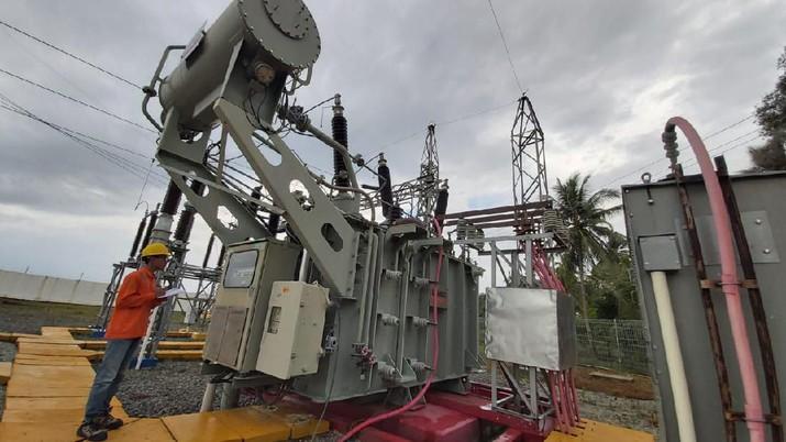 PLN Bangun Gardu Induk di Pulau Ngenang. (Dok PLN)