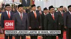 VIDEO: Presiden Jokowi Lantik 12 Wakil Menteri, Ini Daftarnya