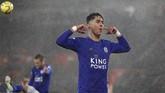 Perez tak hanya mencetak satu gol. Pemain 26 tahun asal Spanyol itu membukukan hattrick dalam laga melawan Southampton. Mantan pemain Newcastle United itu mencetak gol pada menit ke-19, 39, dan 57.(AP Photo/Alastair Grant)