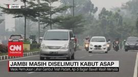 VIDEO: Kota Jambi Masih Diselimuti Kabut Asap