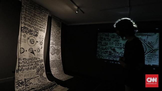 Festival INSTRUMENTA pertama kali diselenggarakan pada 2018 di Galeri Nasional Indonesia, dan saat ini digelar untuk kedua kalinya pada 23 Oktober hingga 19 November 2019. (CNN Indonesia/ Adhi Wicaksono)