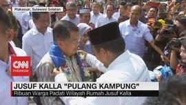 VIDEO: Ribuan Warga Sambut Kepulangan Jusuf Kalla