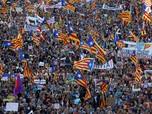 Menyemut! Setengah Juta Orang Turun Demo Padati Barcelona