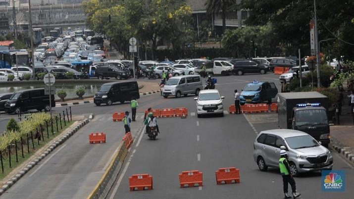 Tangkal Demo Tolak UU KPK, Jalan Medan Merdeka Barat Ditutup