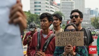 Demo di Patung Kuda, Massa Nyanyikan 'Jokowi Fasis'