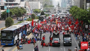Ratusan Polisi Disiagakan Kawal Demo Buruh di Jakarta