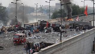 FOTO: Demo Berdarah di Irak Telan 60 Korban Jiwa