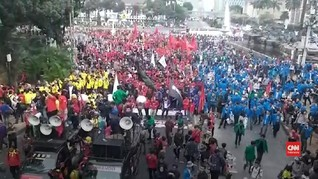 VIDEO: Teriakan 'Revolusi' di Demo 28 Oktober