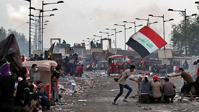 Demo Irak Memburuk, Jalanan dan Sekolah Tutup
