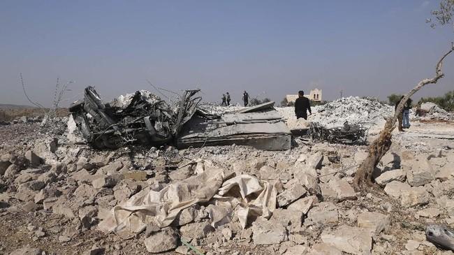 Namun, Rusia masih meragukan informasi 'kematian kesekian' pemimpin ISIS tersebut. (AP Photo/Ghaith Alsayed)