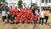 Indonesia kini memiliki induk organisasi sepak bola bagi penyandang disabilitas fisik, Indonesia Amputee Football atau Garuda INAF yang didirikan pada 2 Maret 2018 yang digagas oleh Yudi Yahya (32) yang sekarang menjadi Ketua Indonesia Amputee Football (INAF). (ANTARA FOTO/Galih Pradipta)