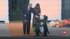 VIDEO: Donald Trump Rayakan Halloween di Gedung Putih